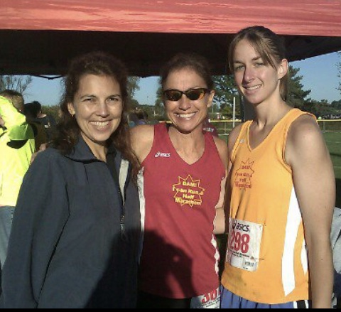 Alicia, Shawn and Jenny ready for one of the Crystal Lake half marathon