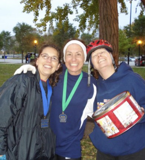 Alicia, Shawn and Lynette Fall 2008 First 50 miler